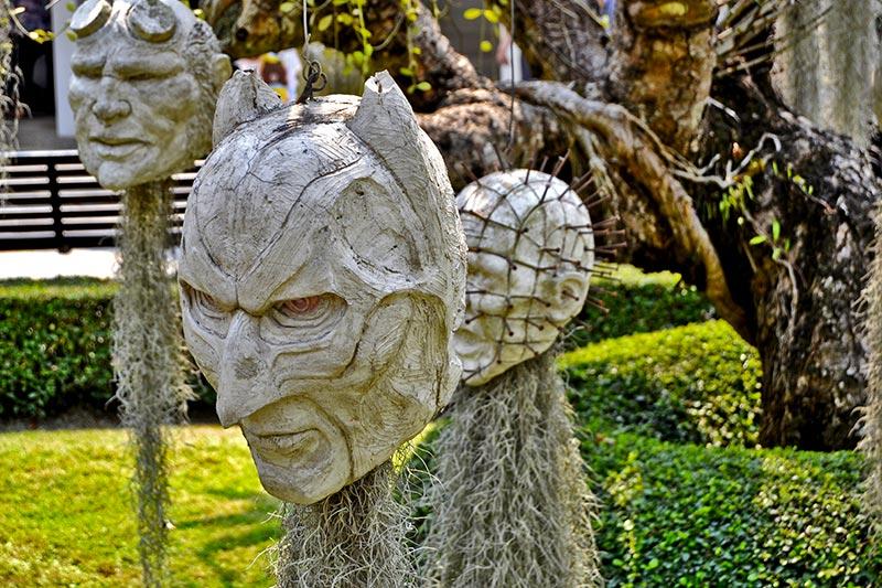 Máscara Batman Templo Blanco Chiang Rai