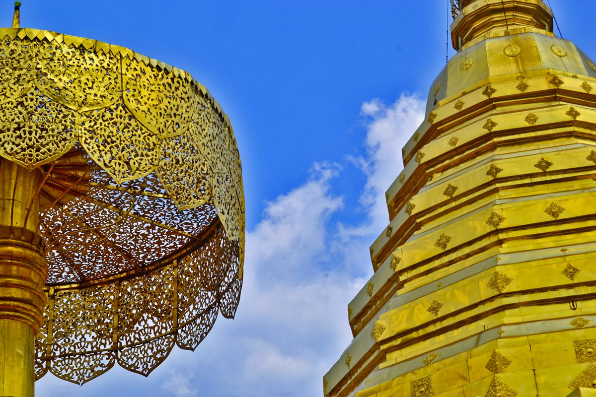 Chedi central pan de oro Doi Suthep Chiang Mai