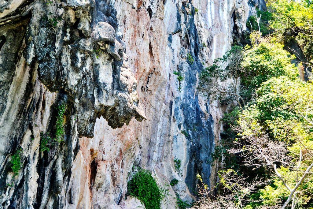 Rostro creación bordes roca caliza Phang Nga Tailandia