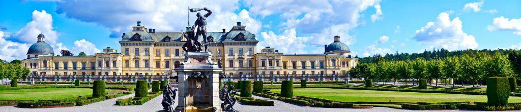 Panorámica Palacio Real jardines Drottningholm Suecia
