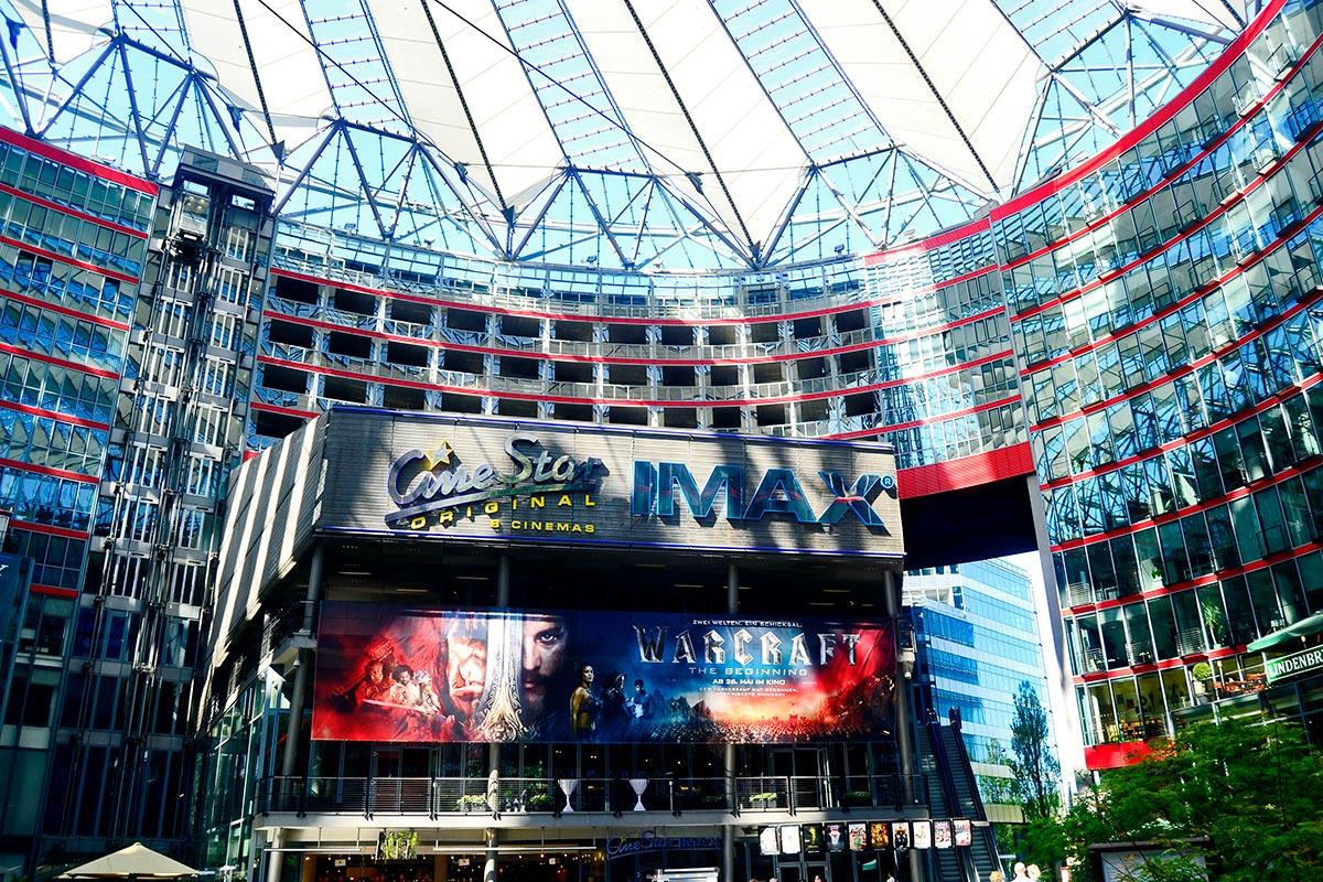 Indraestructura arquitectura vanguardista cristal cine IMAX Helmut Jahn Sony Center Berlín